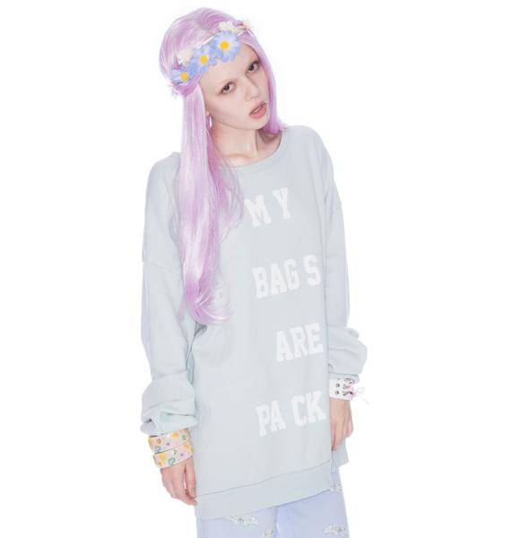 Wildfox Couture My Bags Are Packed Barefoot Sweater