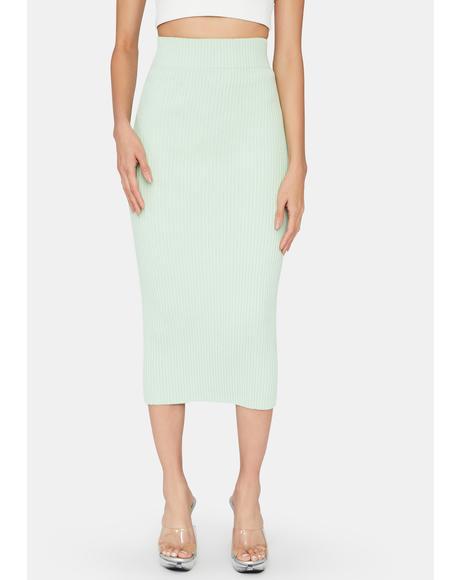 Pistachio Midi Skirt