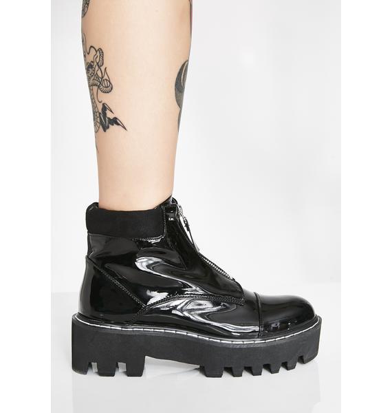 Lamoda Stomp On 'Em Zip Boots