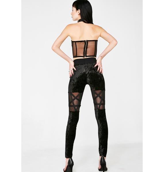 Killstar Hellion Velvet Leggings