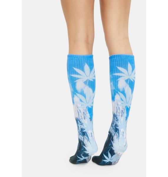 HUF Aquatic Blue Digital Plantlife Socks