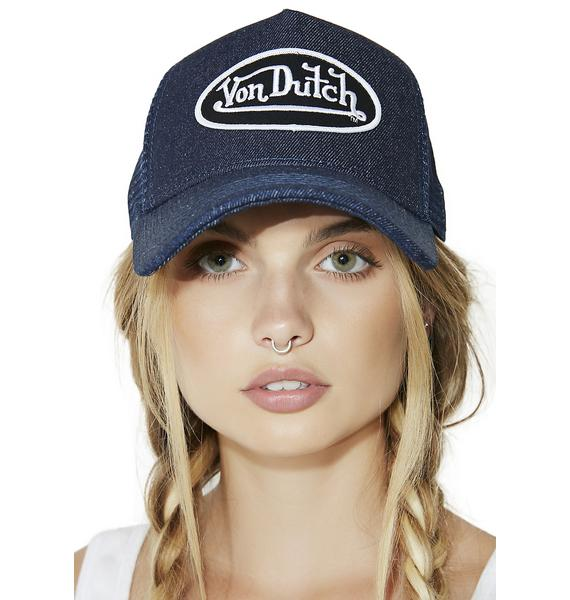 Von Dutch Denim Trucker Hat