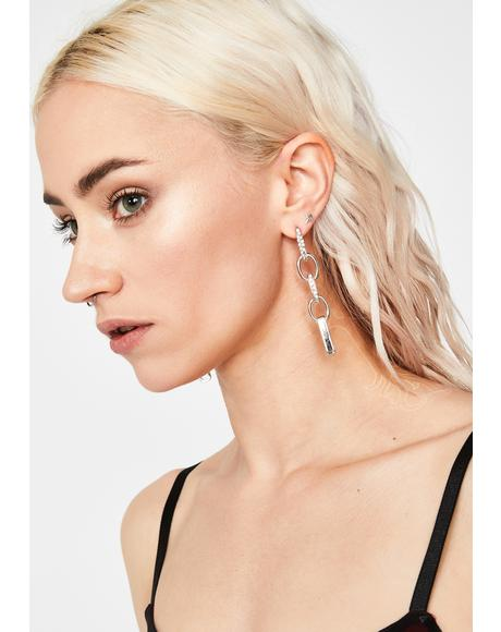 Clearly Together Chain Earrings