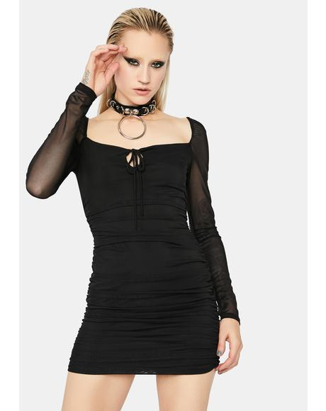 Sinful Head Turner Ruched Bodycon Dress