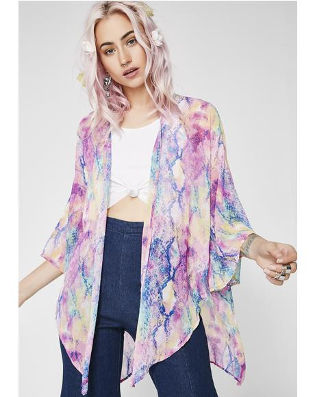 Technicolor Toxin Short Kimono