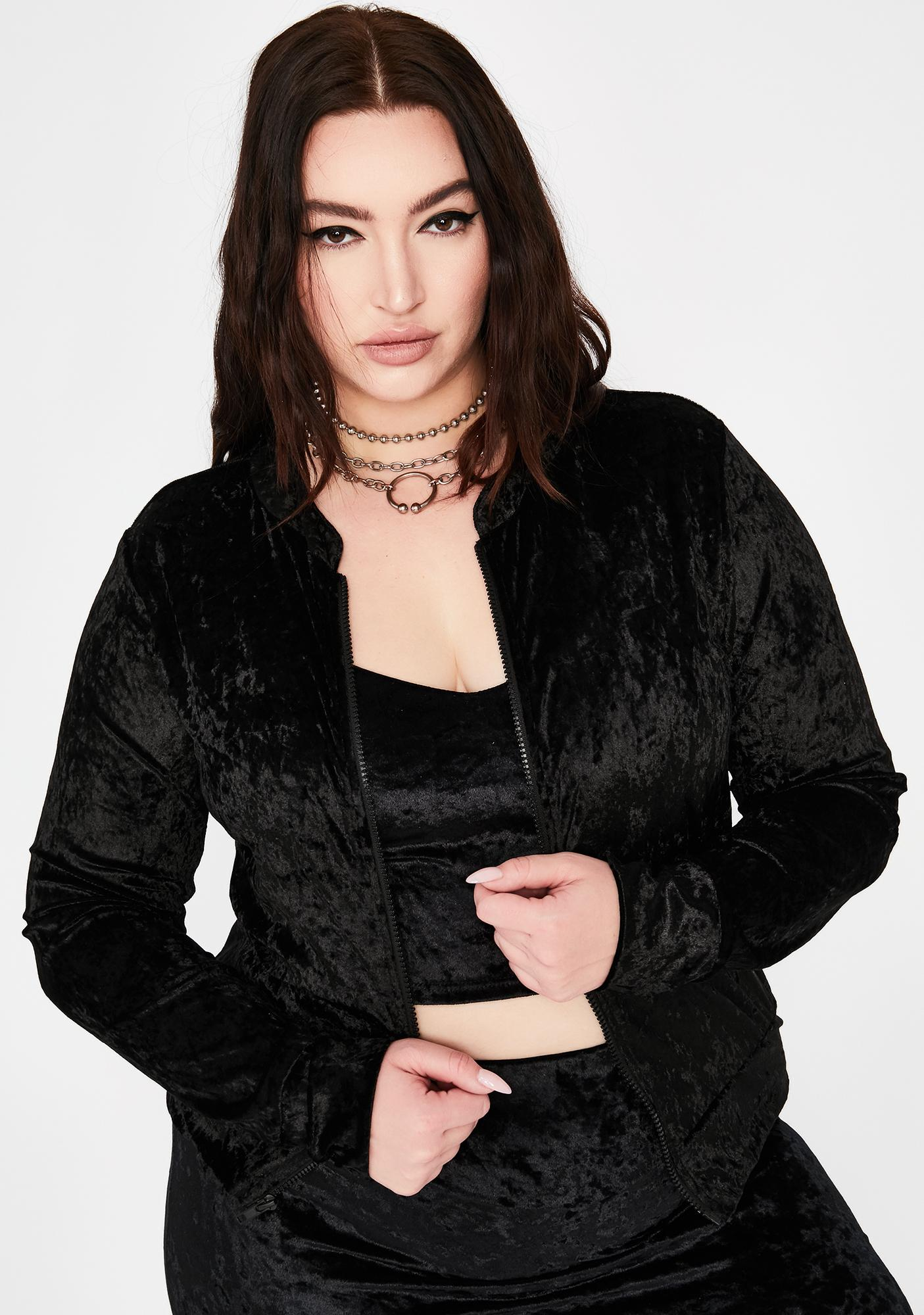 Dark Divine Regal Commands Velvet Jacket