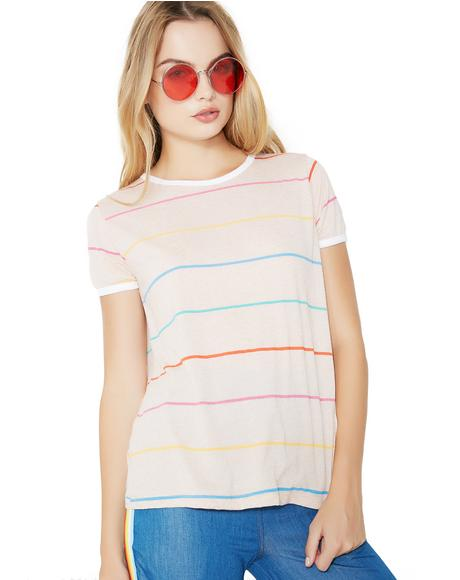 Tennis Stripe Johnny Ringer Tee
