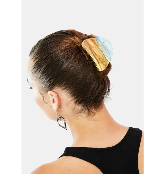Put A Pin In It Holo Hair Clip