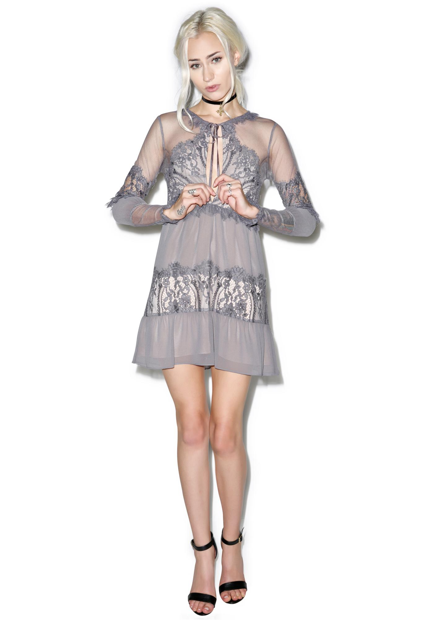 For Love & Lemons Slate Alexa Mini Dress