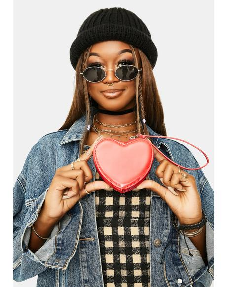 ILYSM Mini Heart Clutch