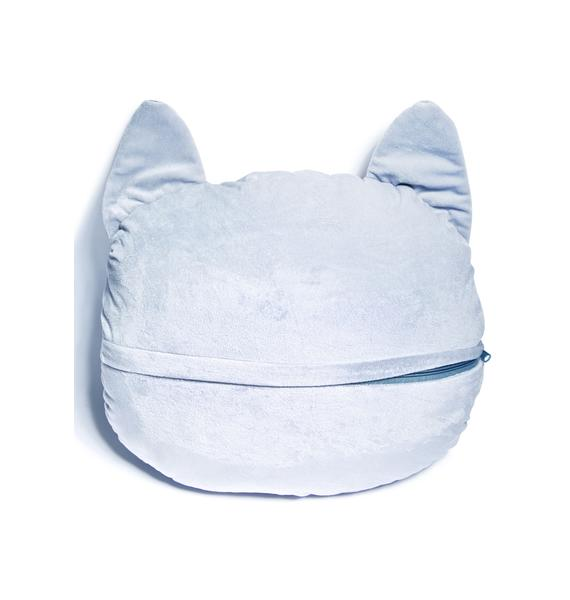 Grey Cat Pillow