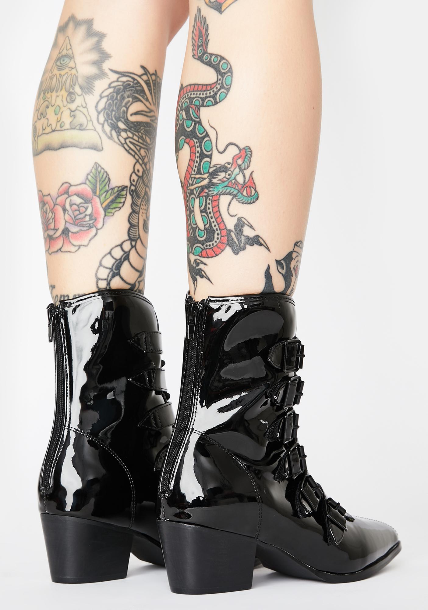 Strange Cvlt Patent Coven Boots