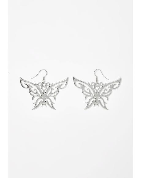 Can't Catch Me Butterfly Earrings