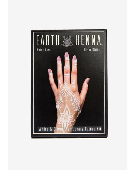 Earth Henna White Lace Tattoo Kit