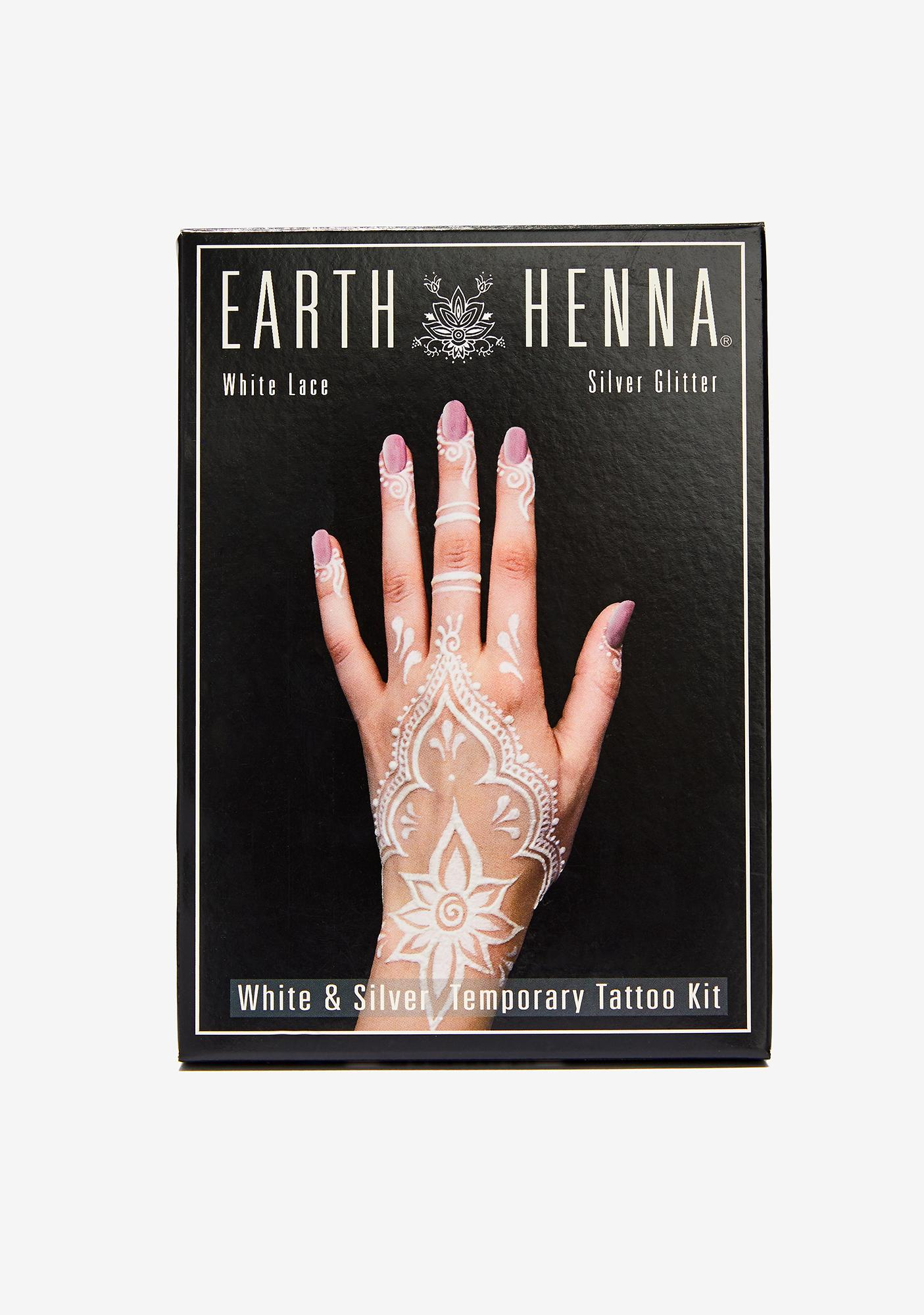 Earth Henna Earth Henna White Lace Tattoo Kit