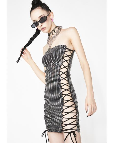 Party For One Lace Up Dress