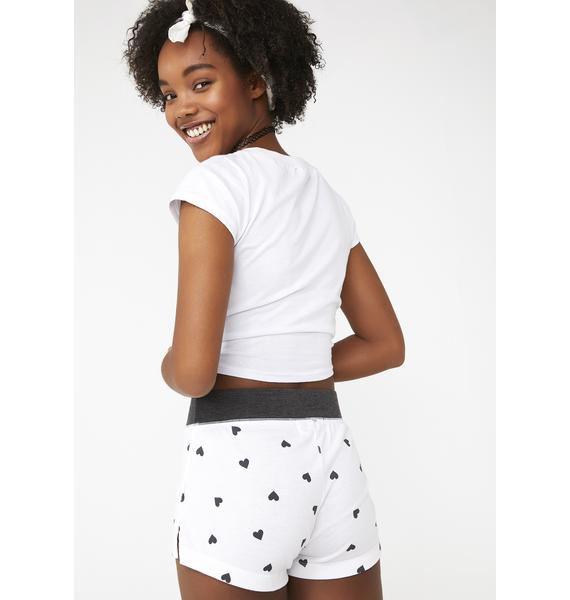 Wildfox Couture Falling Hearts Britney Shorts