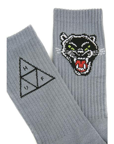 Panther Crew Socks