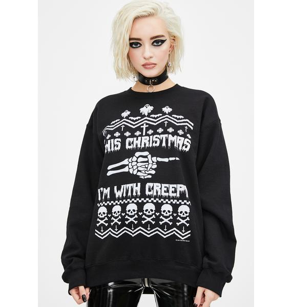 Too Fast I'm With Creepy Christmas Sweater