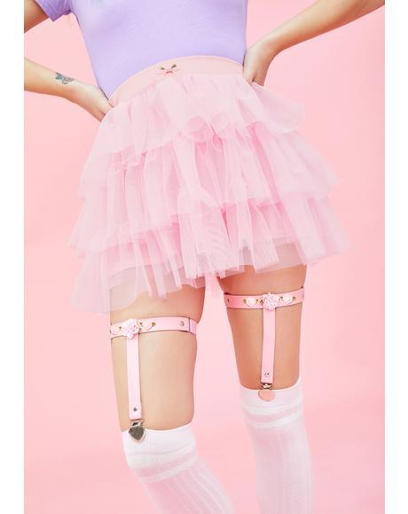 Holy Roses Leg Garters