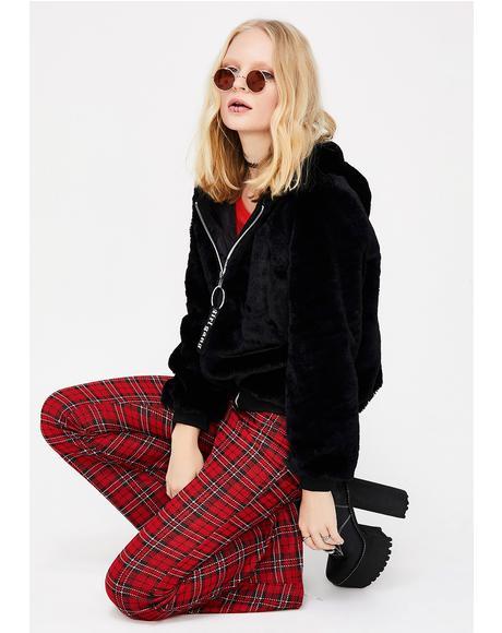 Girl Gang Furry Hoodie