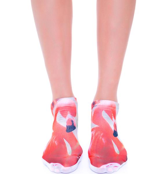 Pink Flamingo Ankle Socks