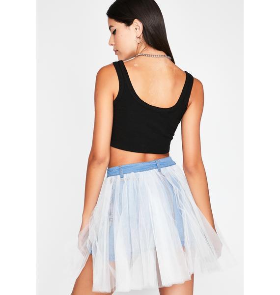 Punk Princess Denim Skirt