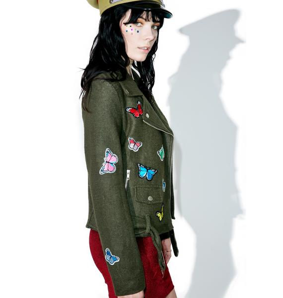 Fluttery Feelings Moto Jacket