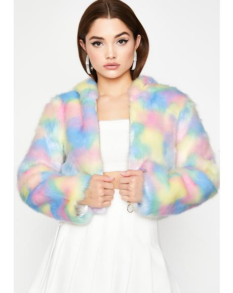 Sugar Dreamz Faux Fur Jacket