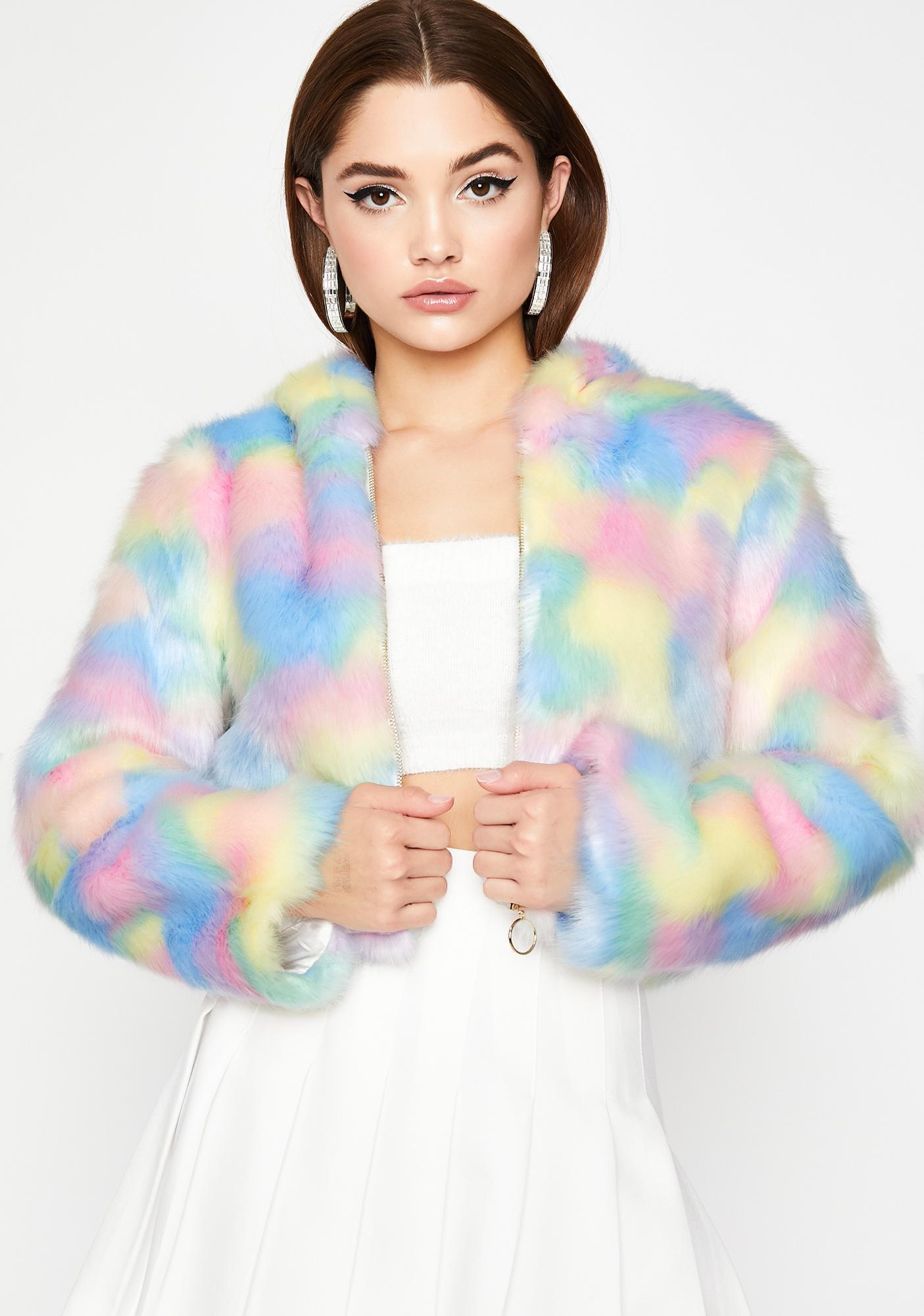 Sugar Dreamz Faux Fur Jacket by