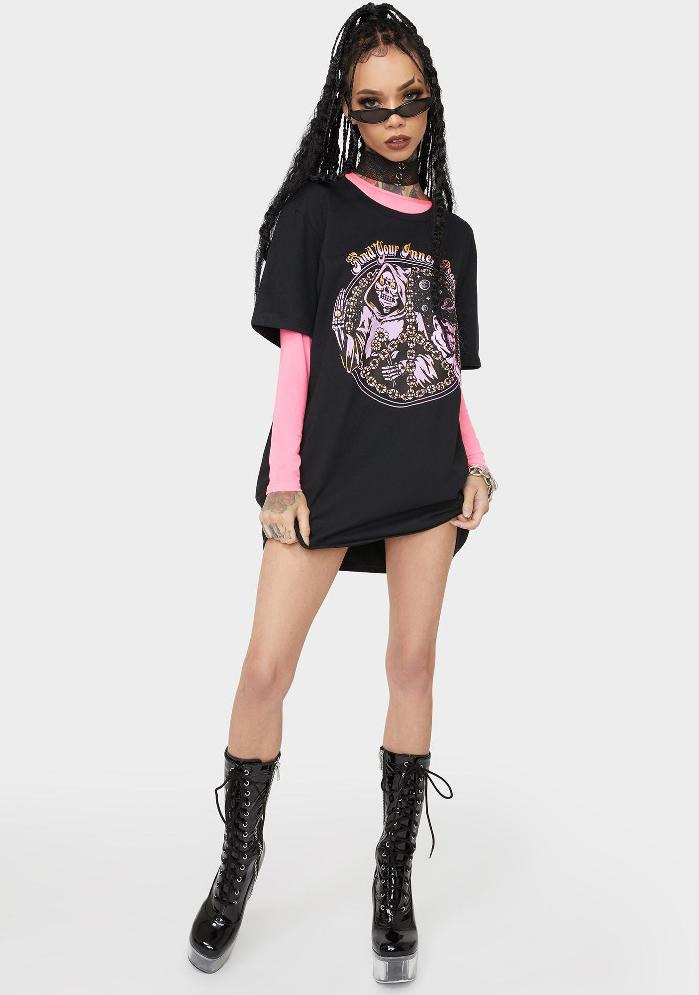 Boss Dog Find Your Inner Peace Graphic Tee