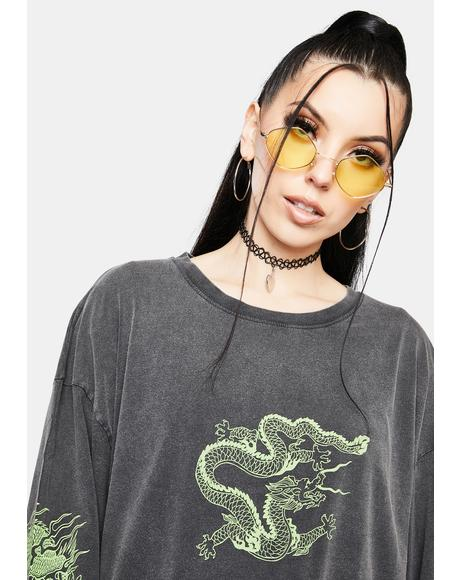 Triple Dragon Long Sleeve Tee