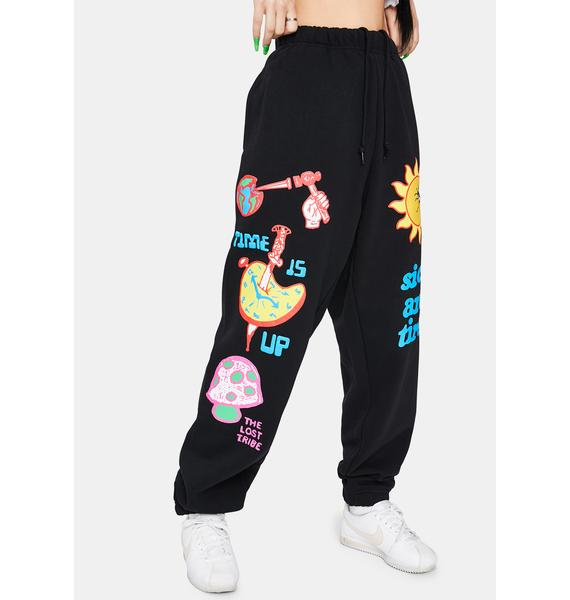 Obey Time Is Up Graphic Joggers