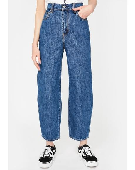 Balloon Leg Denim Jeans