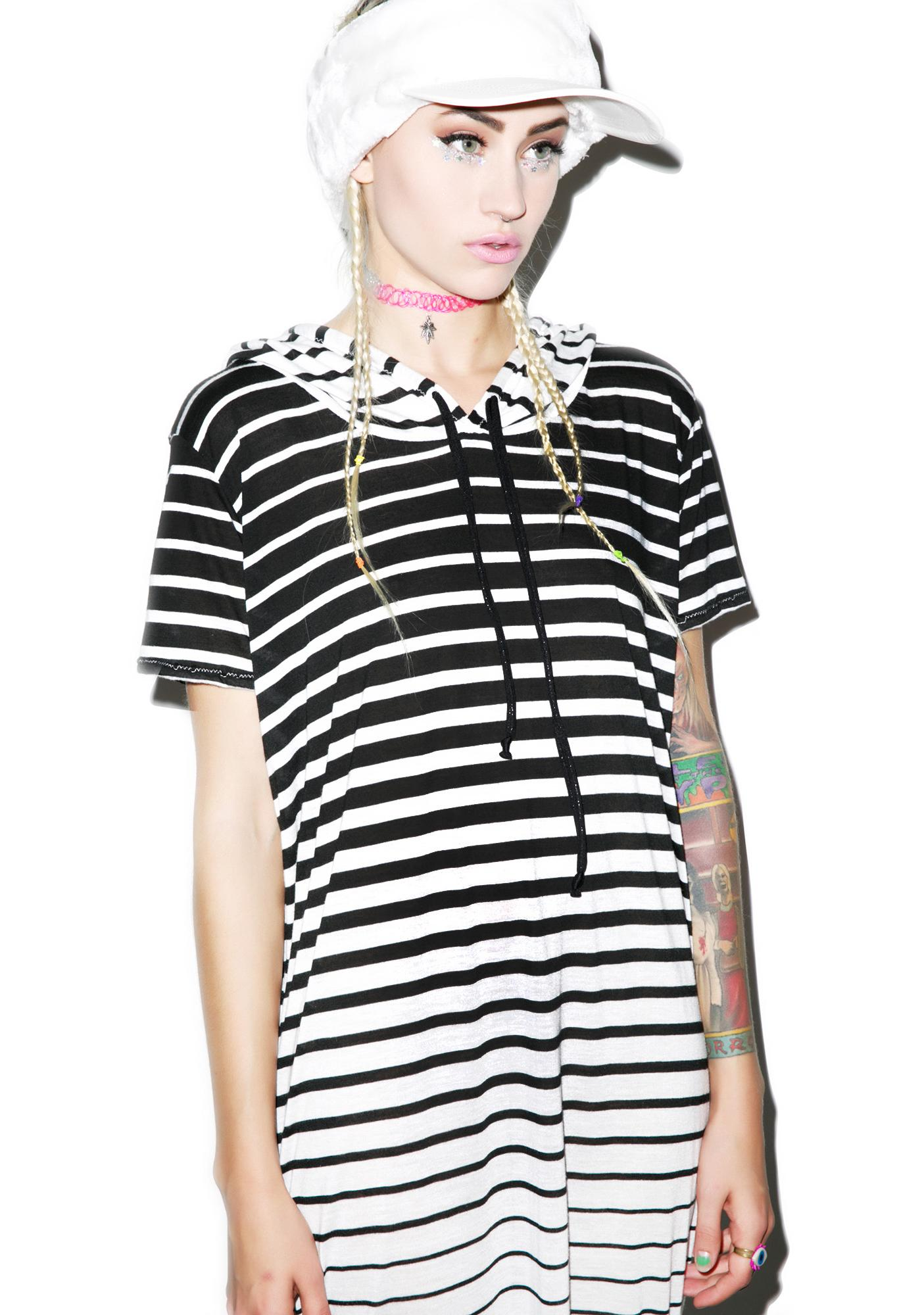 Mamadoux Preppy Goth Hoodie Dress