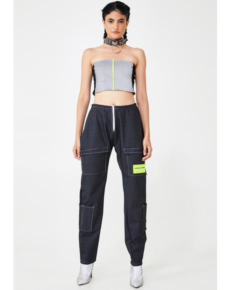 Oversized Denim Pants