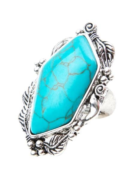 Queen Of The Desert Turquoise Ring