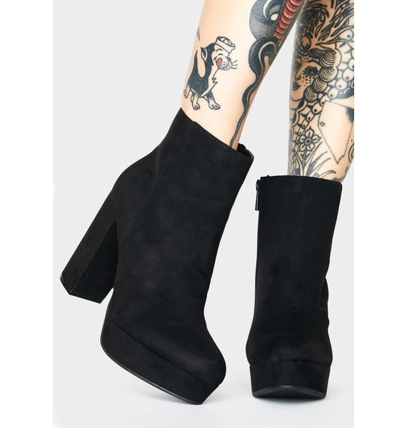 Blackout Minor Threat Heeled Booties