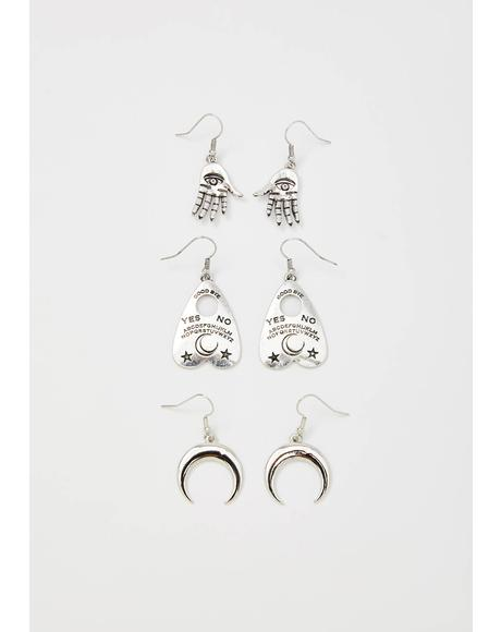 Total Misfortune Drop Earrings Set