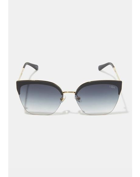 Lucky Star Black Sunglasses