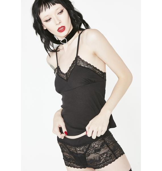 Not That Innocent Lace Shorts Set