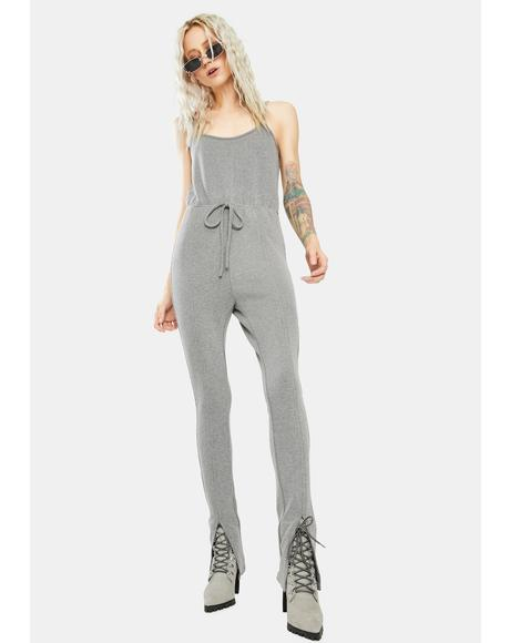 Gray Run Errands Gurl Jumpsuit