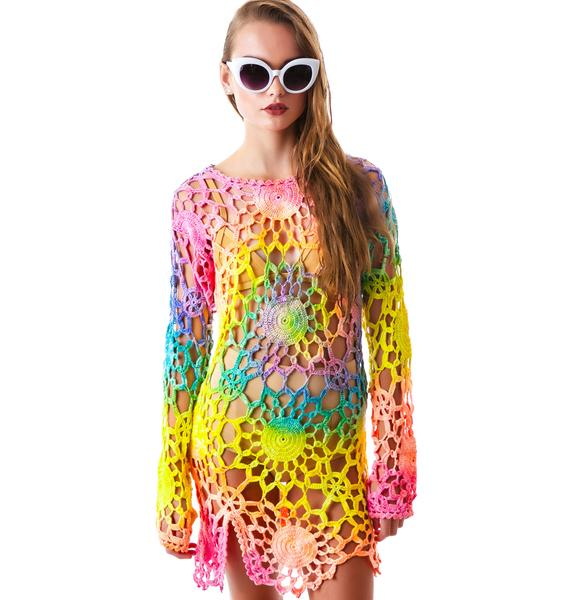 UNIF Tie Dye Astra Dress