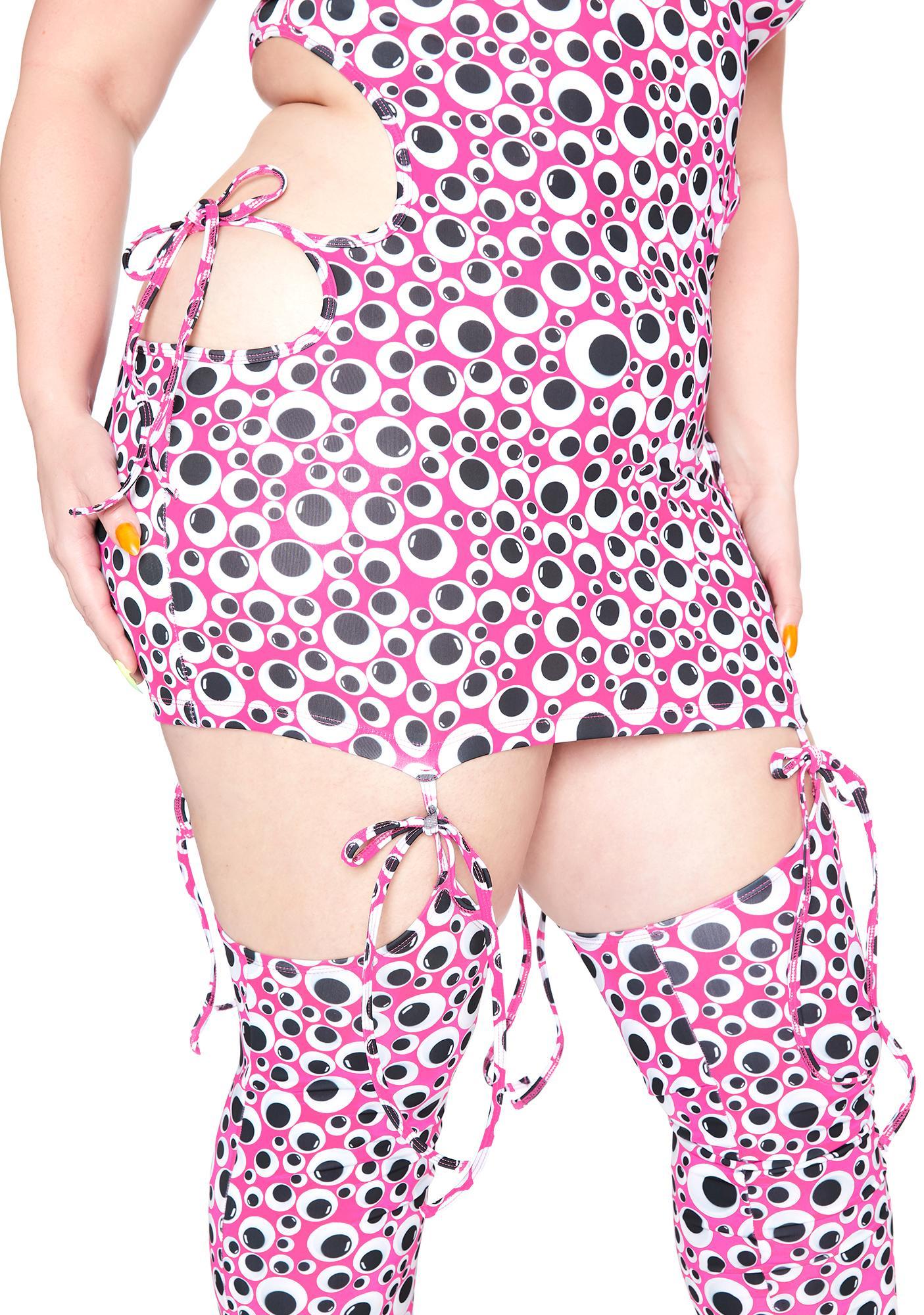Club Exx Major Eye Roll 3-Piece Dress Set