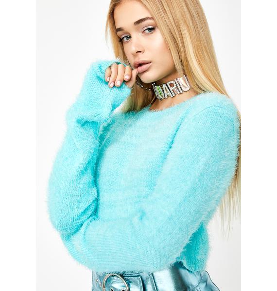 HOROSCOPEZ Dream Visionz Fuzzy Sweater