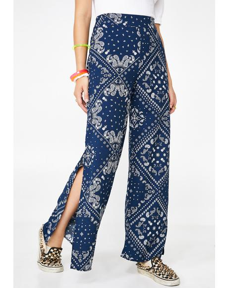 Rock Nation Wide Leg Pants