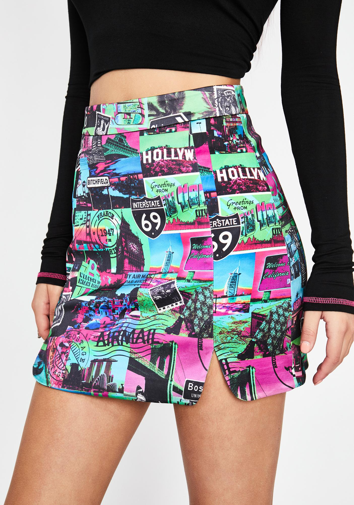 HOROSCOPEZ Untamed Odyssey Mini Skirt