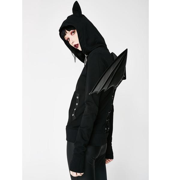 Killstar Tokyo Nights I'm A Bat Hoodie