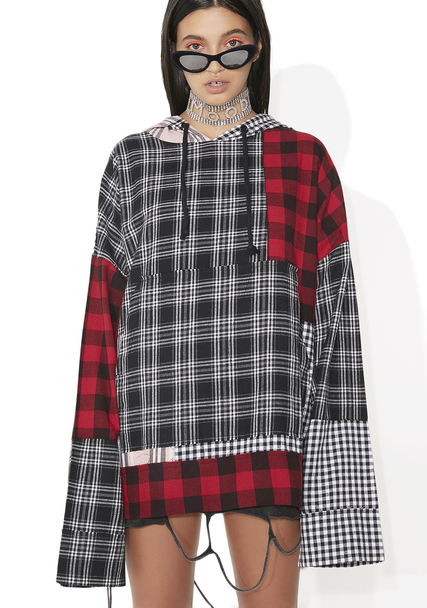 Jaded London Oversized Patchwork Hoodie