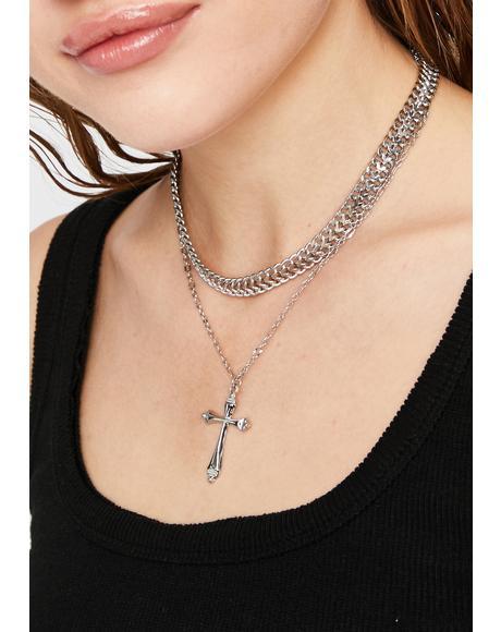 Devout Baddie Cross Necklace